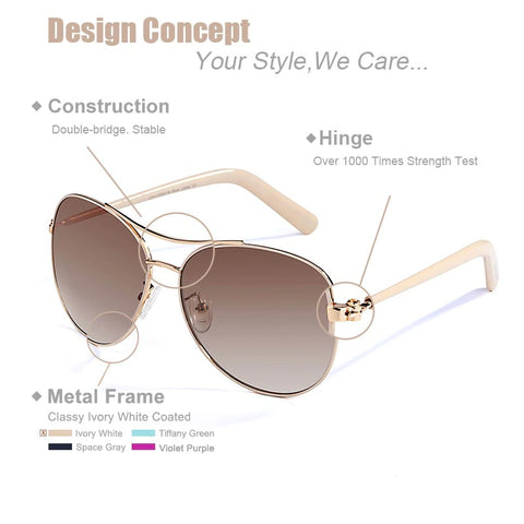 Image of Harrington Fashion Gold Sunglasses for Women