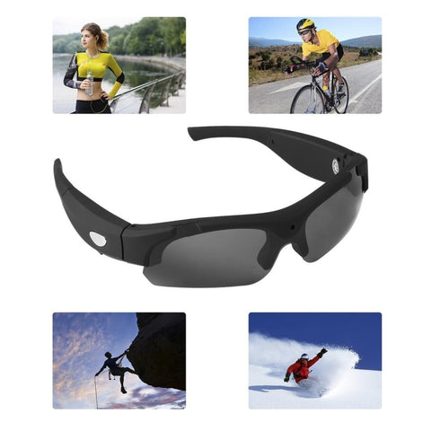 Image of 1080P HD Interchangeable Polarized-lenses Sunglasses Camera Video Recorder Sport Sunglasses Camcorder Eyewear Video Recorder