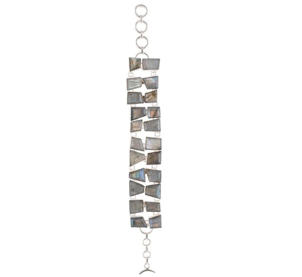 Arvino 925 Sterling Silver Bracelet with RMS Labradorite & Lapis Gemstone options-Arvino Online