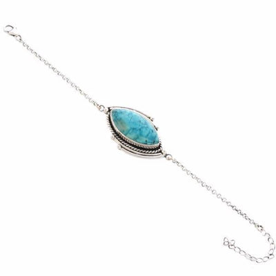 Arvino 925 Sterling Silver Bracelet With Turquoise Gemstone-Arvino Online
