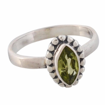 Arvino 925 Sterling Silver Cute Ring With Peridot Gemstone-Arvino Online