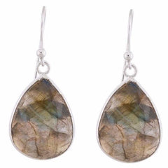 Arvino 925 Sterling Silver Dangle Earring With Labradorite Gemstone-Arvino Online