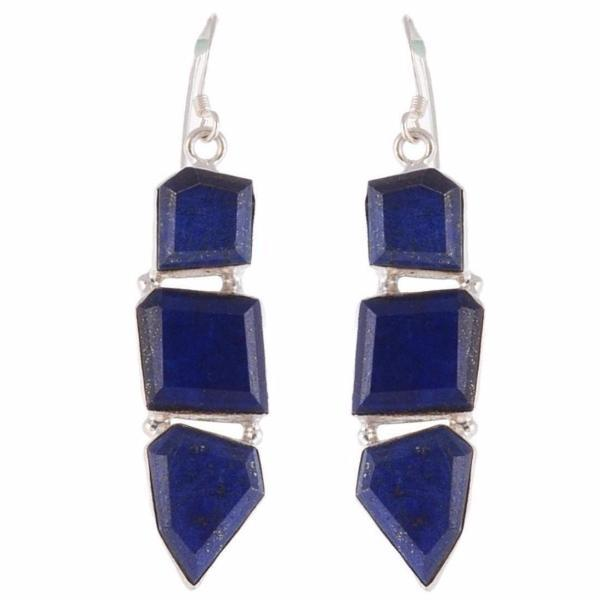 Arvino 925 Sterling Silver Dangle Earring With Lapis Gemstone-Arvino Online