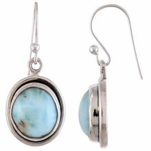 Arvino 925 Sterling Silver Dangle Earring With Larimar Gemstone-Arvino Online