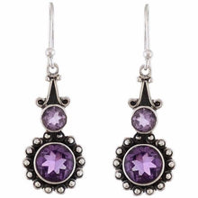 Arvino 925 Sterling Silver Dangle Earring With Purple Amethyst Gemstone-Arvino Online