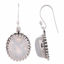 Arvino 925 Sterling Silver Dangle Earring With Rainbow Moon Stone-Arvino Online