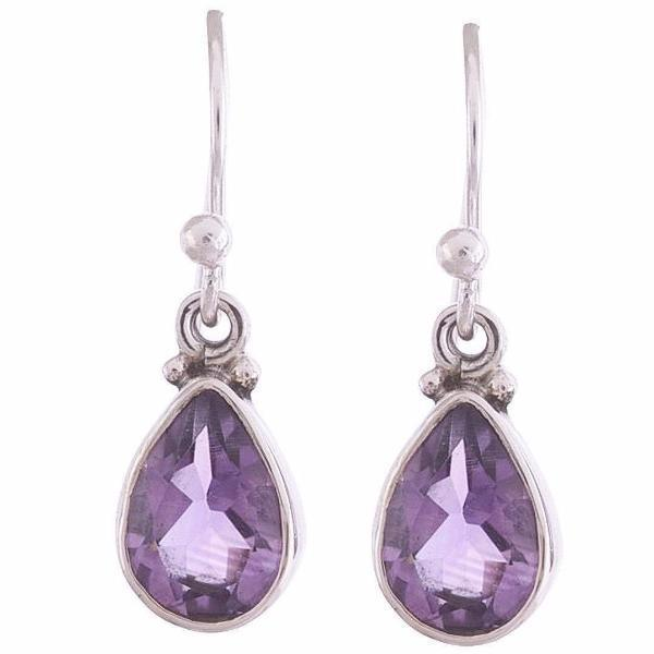 Arvino 925 Sterling Silver Earring with Amethyst Gemstone-Arvino Online
