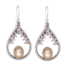 Arvino 925 Sterling Silver Earring with Citrine Gemstone-Arvino Online
