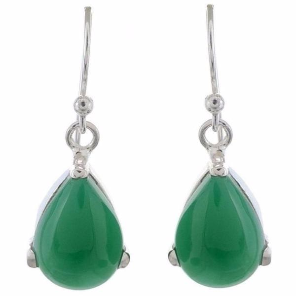 Arvino 925 Sterling Silver Earring With Green Onyx Gemstone-Arvino Online