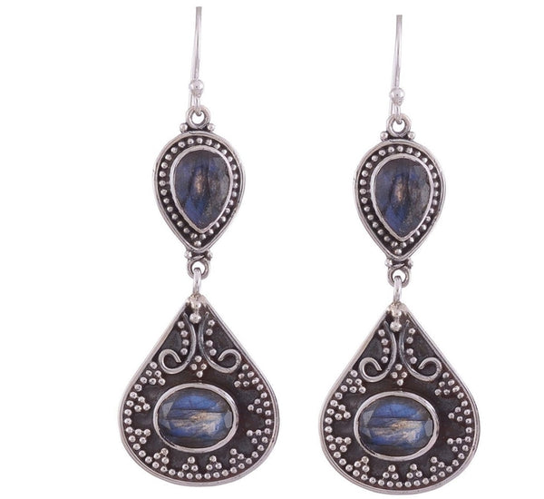 Arvino 925 Sterling Silver Earring with Labradorite Gemstone-Arvino Online