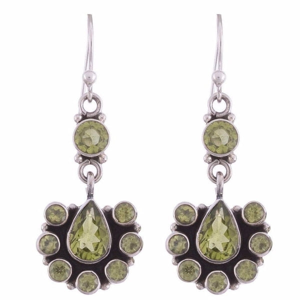 Arvino 925 Sterling Silver Earring with Peridot Gemstone-Arvino Online