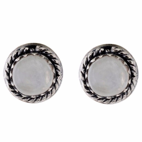 Arvino 925 Sterling Silver Earring With Rainbow Moon Stone-Arvino Online