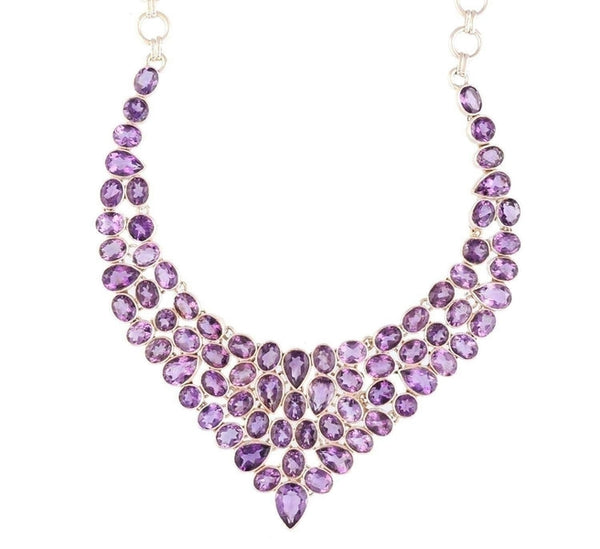 Arvino 925 Sterling Silver Necklace With Amethyst Gemstone-Arvino Online