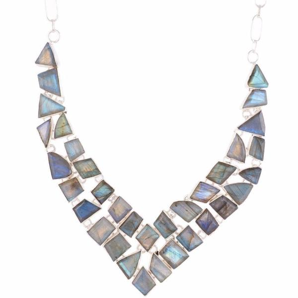 Arvino 925 Sterling Silver Necklace With Labradorite Gemstone-Arvino Online