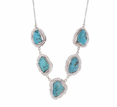 Arvino 925 Sterling Silver Necklace With Turquoise Gemstone-Arvino Online