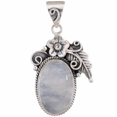 Arvino 925 Sterling Silver Pendant With Rainbow Moon Stone-Arvino Online