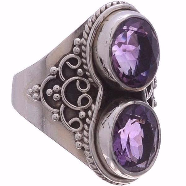 Arvino 925 Sterling Silver Ring with Amethyst Gemstone-Arvino Jewelry