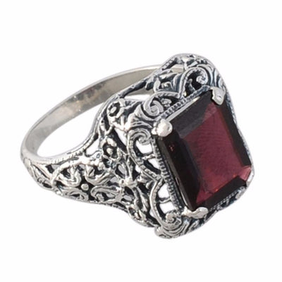 Arvino 925 Sterling Silver Ring With Garnet Or Amethyst Gemstone-Arvino Online
