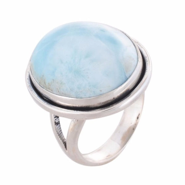 Arvino 925 Sterling Silver Ring With Larimar Gemstone-Arvino Online