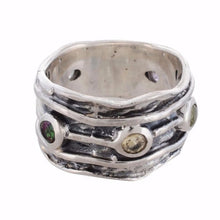 Arvino 925 Sterling Silver Ring With Multi Stones Gemstone-Arvino Online
