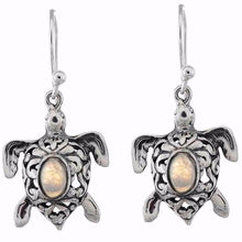 Arvino 925 Sterling Silver Turtle Earring With Multi Gemstone Options-Arvino Online