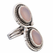 Arvino Infinity 925 Sterling Silver Ring With Rose Quartz Gemstone-Arvino Online