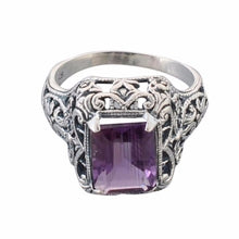 Arvino Partywear 925 Sterling Silver Ring With Amethyst Gemstone-Arvino Online