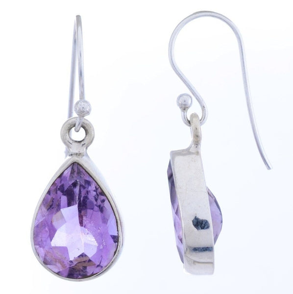 Arvino Sterling Silver Dangle Earring with Amethyst Gemstone-Arvino Online