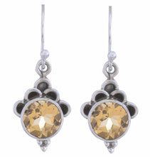 Arvino Sterling Silver Dangle Earring with Citrine Gemstone-Arvino Online