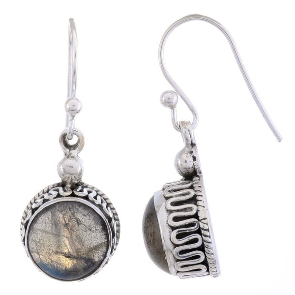 Arvino Sterling Silver Dangle Earring with Labradorite Gemstone-Arvino Online