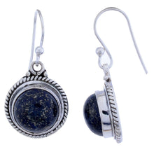 Arvino Sterling Silver Dangle Earring with Lapis Gemstone-Arvino Online