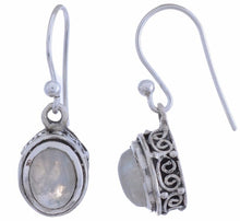 Arvino Sterling Silver Dangle Earring with Rainbow Moon Stone-Arvino Online