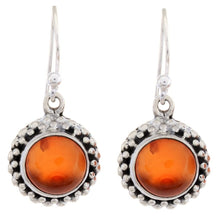 Arvino Sterling Silver Dangle Earring with Red Onyx Gemstone-Arvino Online