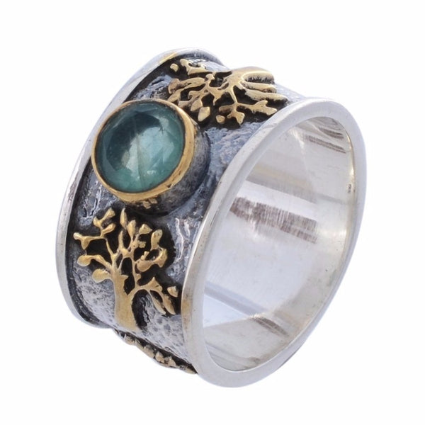 Arvino Sterling Silver Ring with Apatite Gemstone-Arvino Jewelry