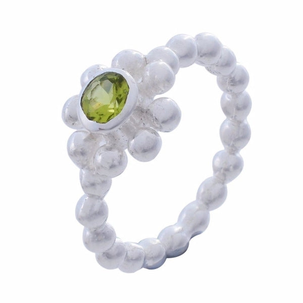 Arvino Sterling Silver Ring with Peridot Gemstone-Arvino Jewelry