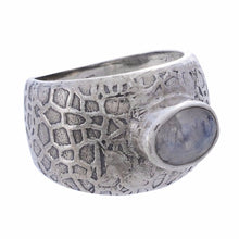 Arvino Sterling Silver Ring with Rainbow Moon Stone-Arvino Online