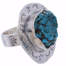 Arvino Sterling Silver Ring with Turquoise Gemstone-Arvino Jewelry