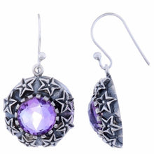 Sterling Silver Dangle Earring with Amethyst Gemstone-Arvino Online