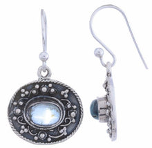 Sterling Silver Dangle Earring with Blue Topaz Gemstone-Arvino Jewelry