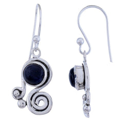 Sterling Silver Dangle Earring with Iolite Gemstone-Arvino Jewelry