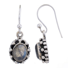 Sterling Silver Dangle Earring with Labradorite Gemstone-Arvino Online