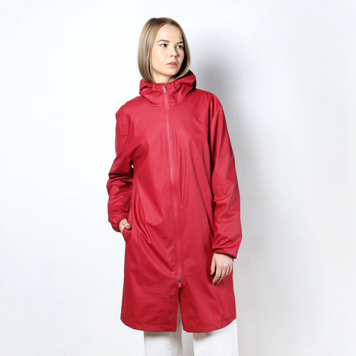 ПЛАЩ RAINS BASE JACKET LONG RED