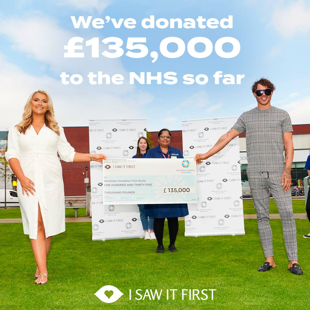 We've raised £135,000 for the NHS