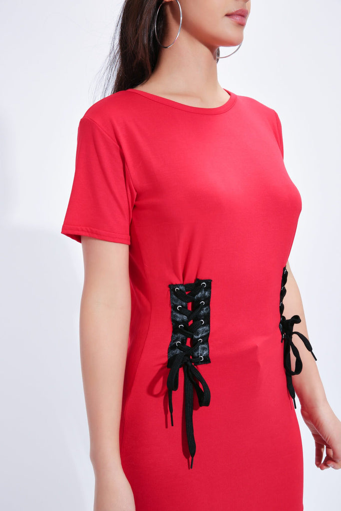 Red Side Corset T-Shirt