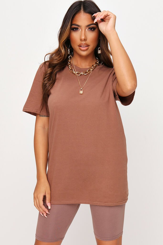 Chestnut Basic Oversized T-Shirt