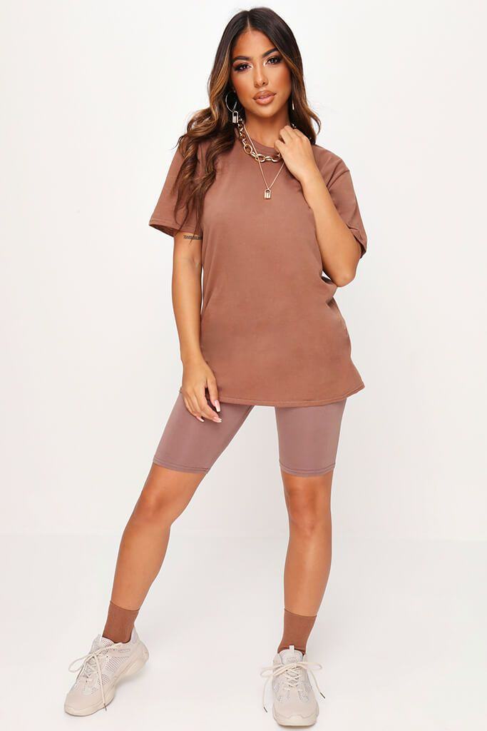 Chestnut Basic Oversized T-Shirt view 2