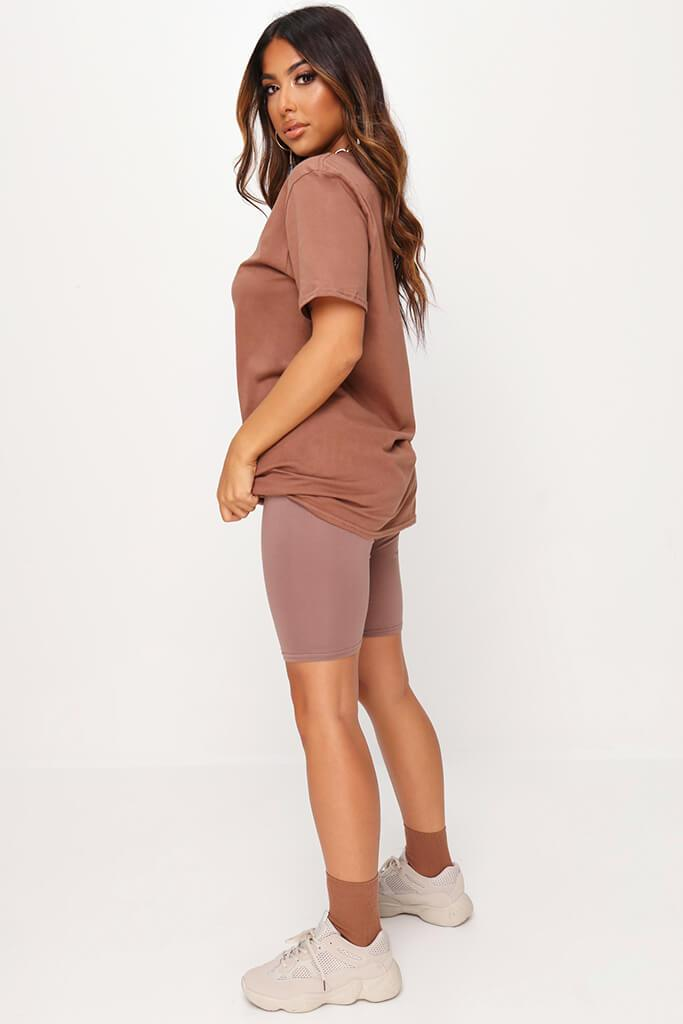 Chestnut Basic Oversized T-Shirt view 3
