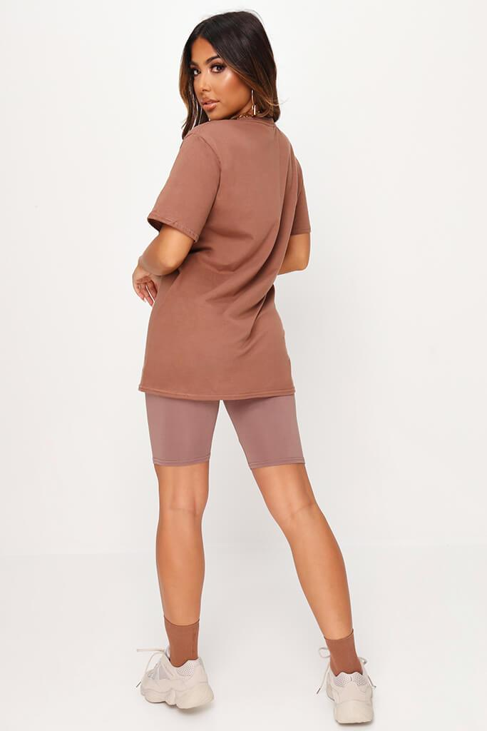 Chestnut Basic Oversized T-Shirt view 5