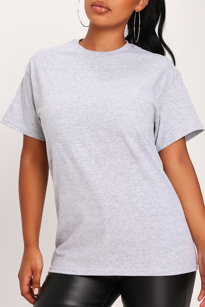 Sports Grey Basic Oversized T-Shirt view 4