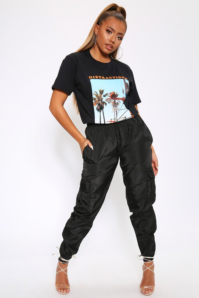 Black Bad Girl Graphic Oversized T-Shirt view 2